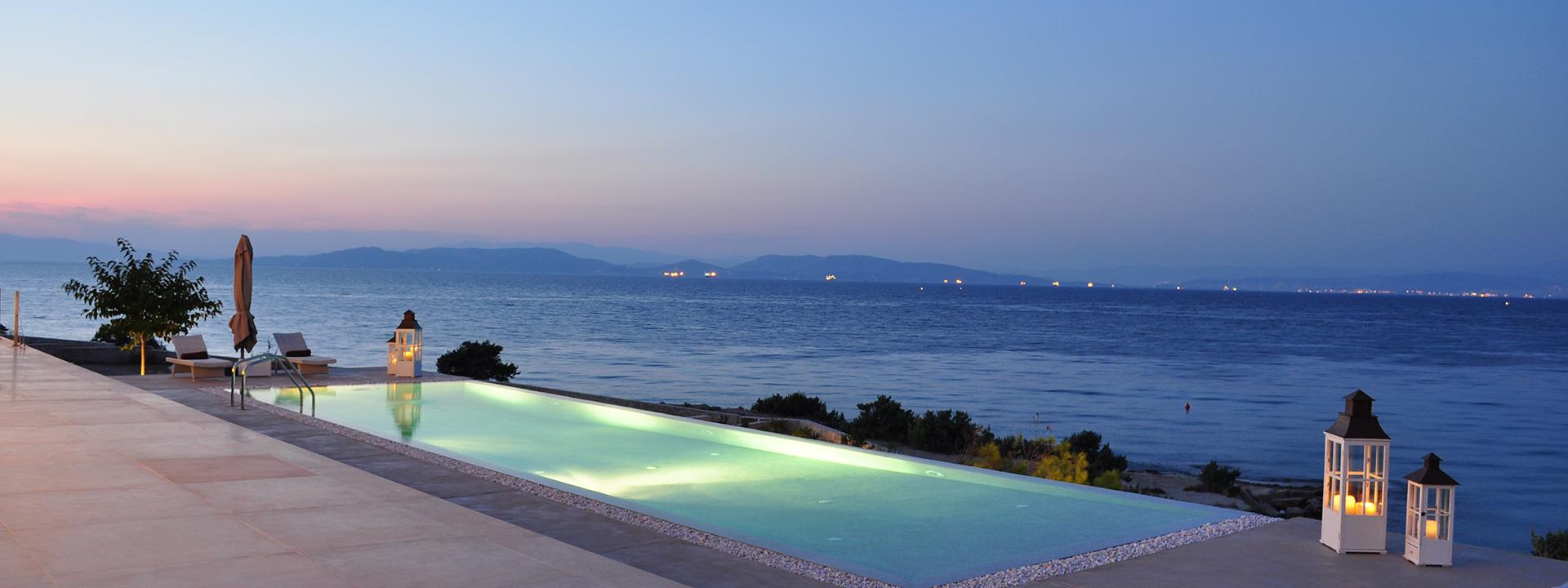Luxusvilla am Meer