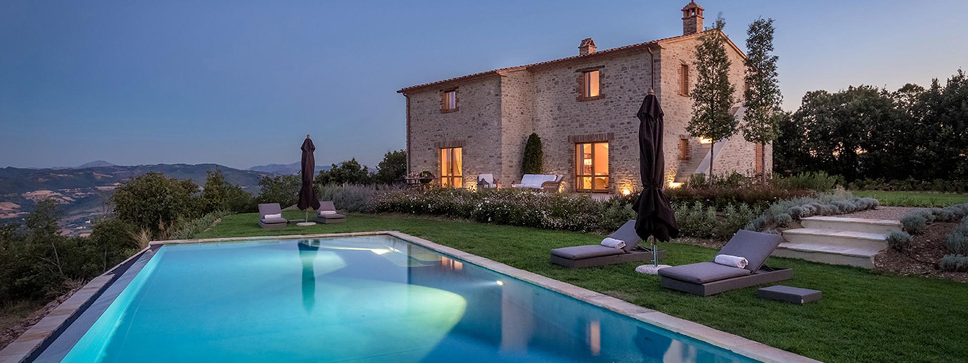 Landhäuser in der Toskan,Ubrien,Marken