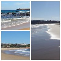 Spaziergang am Strand entlang nach Sabres