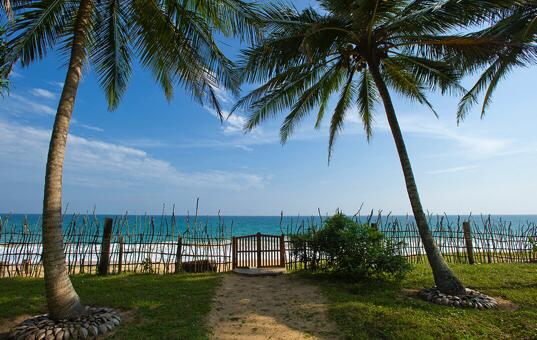 Blick vom Garten der Villa Ocean Edge im Süden Sri Lankas