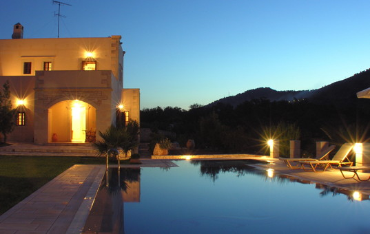 Griechenland - CRETE - Melidoni - Villa Panormo - Rustik country house with very large pool