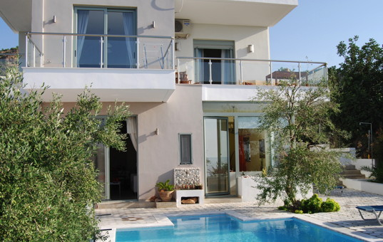 <a href='/holiday-villa/greece.html'>GREECE</a> - <a href='/holiday-villa/greece/crete.html'>CRETE</a>  - Achlia - Spiti Achlia - Modern villa with balconies and a pool