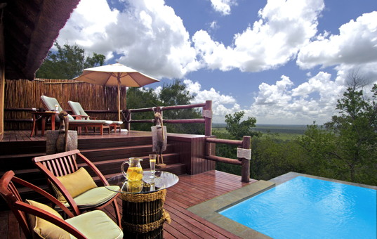 Afrika - SOUTH AFRICA - KRUEGER NATIONAL PARK - Sabi Sand Wildreservat - Ulusaba Rock Lodge - luxury lodge with service