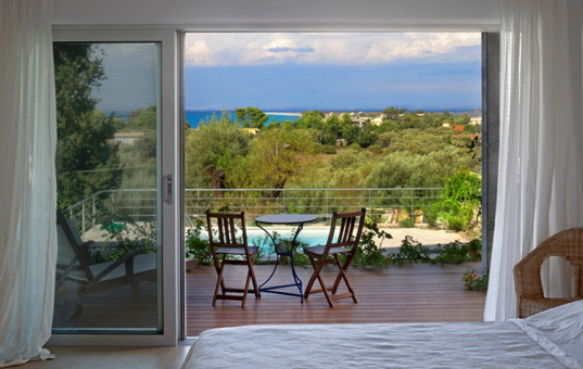 Griechenland - IONIAN ISLANDS - LEFKADA - Lefkas - Spiti Jira - Double bedroom with balcony and sea view