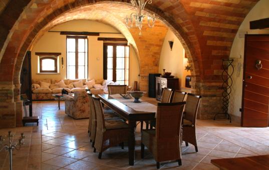 Italien - MARCHE - Monteprandone - Casa Monte - generous dining area
