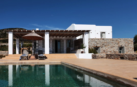 Griechenland - CYCLADES - ANTIPAROS - Soros - Soros Beach Villa 3 - Modern villa with large pool