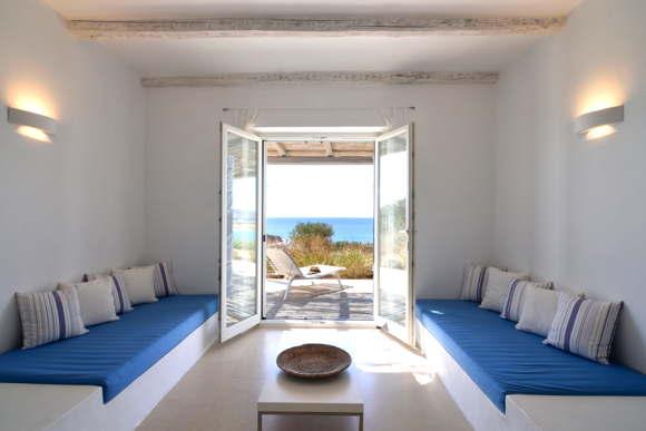 luxury villa on the sea paros luxury Greece Cyclades Paros Farangas Villa Kalimera