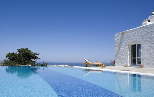 Griechenland - Kykladen  - Paros  - Parasporos Bay - Yria Ktima - griechische villa mit spektakulärem Blick