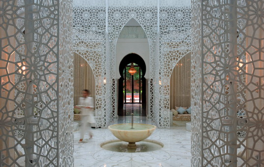 Afrika - MOROCCO - Marrakesch - Riad Royal Mansour - Entrance hall in Morrocan style