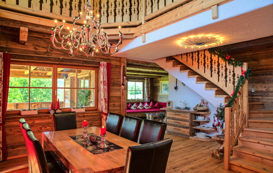 chalets Österreich und ferienvillen bei domizile reisen, Esszimmer dekoo