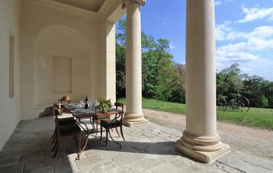 Italien - VENETO - Montemerlo - Casa Tempietto - terrace with columns
