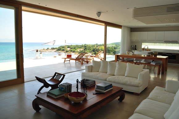 seafront villa rental Saronic Islands