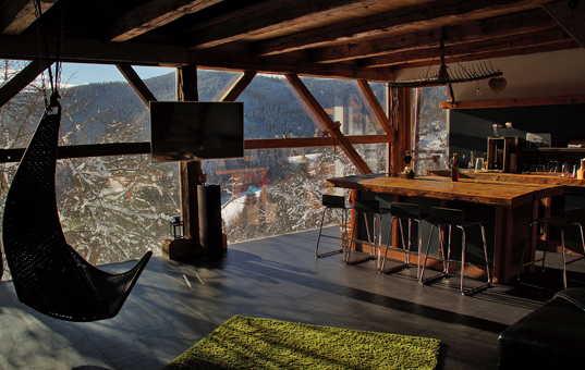 Österreich - STYRIA - St. Stefan ob Leoben - Bienenalm - Living room with stunning view chalet in Styria