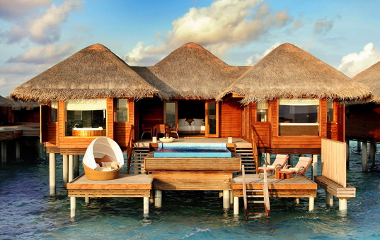 Indischer Ozean - MALDIVES - Huvafen Fushi / North Malé Atoll - Huvafen Fushi Luxury Resort - Ocean Bungalows with small pool