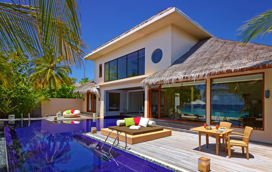 Indischer Ozean - MALDIVES - Huvafen Fushi / North Malé Atoll - Huvafen Fushi Luxury Villas - Luxurious Villa with terrace and pool