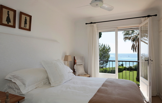 Frankreich - COTE D'AZUR - L'Escalet - Villa Escalet - Double bedroom with seaview