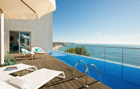 Portugal - ALGARVE - Salema - Villa Mar Azul - stunning views from the pool deck