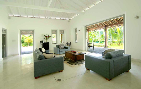 Indischer Ozean - SRI LANKA - Galle - Villa Ivory House - living room