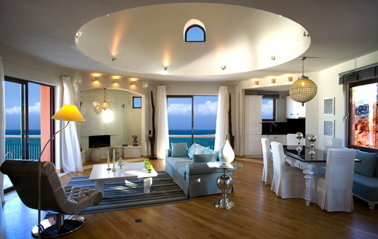 Griechenland - CRETE - Elounda  - Elounda Royal Spa Villa - exquisite living room