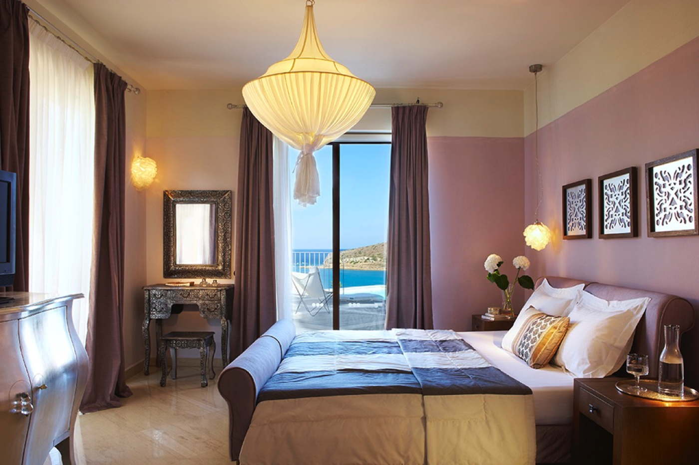 Luxury holiday villa with pool by the sea in elounda on crete for 15 royal terrace day spa