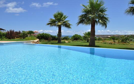 Portugal - ALGARVE - Sagres - Martinhal Sagres Villa 7 - view from the pool