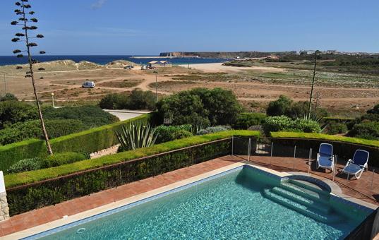 Portugal - ALGARVE - Sagres - Martinhal Sagres Villa 38 - view from the balcony of villa 38