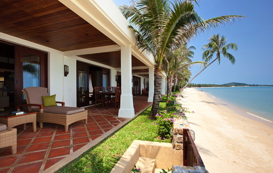Asien - THAILAND - Koh Samui, Suratthani - Villa Cassia - view from the terrace to the ocean