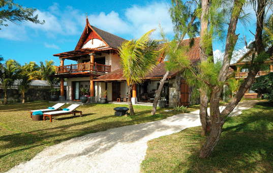 Indischer Ozean - MAURITIUS - Poste Lafayette - Sankhara Villa - Villa in tropical garden by the beach