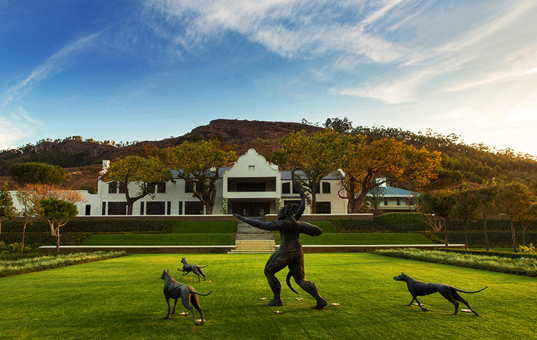 Afrika - SOUTH AFRICA - CAPE REGION - Franschhoek - Leeu Estates - boutique hotel with large garden in Franschhoek