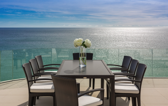 Portugal - ALGARVE - Salema - Villa Alegria - lovely terrace overlooking the sea