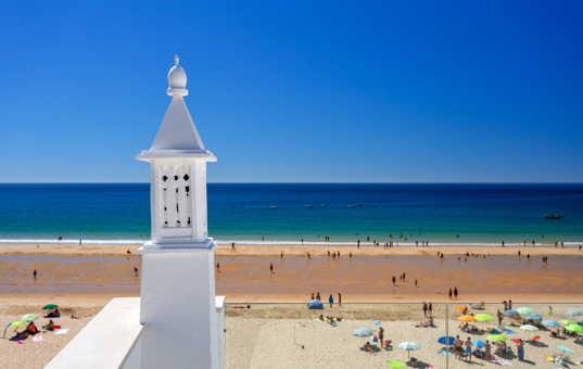 Portugal - ALGARVE - Salema - Sol e Mar - roof terrace with sea view