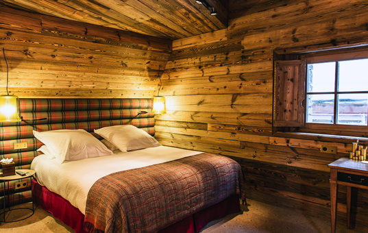 Frankreich - ALPS - Val d'Isère - Chalet Chene - exclusive double bedroom in Chalet Chen Val d'Isere