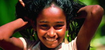 smiling face young girl from Sri Lanka thumb