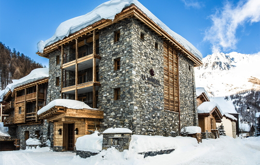 Frankreich - Alpen  - Val d'Isère - Chalet Ebene - Almdorf in Val d'Isere mit privaten Chalets