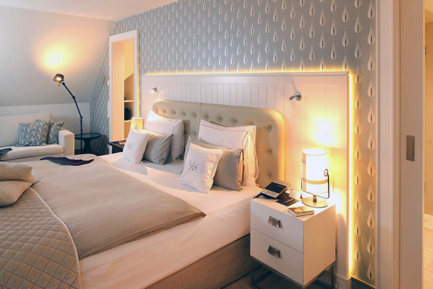 Luxury holiday house on 3 levels in hotel resort Sylt