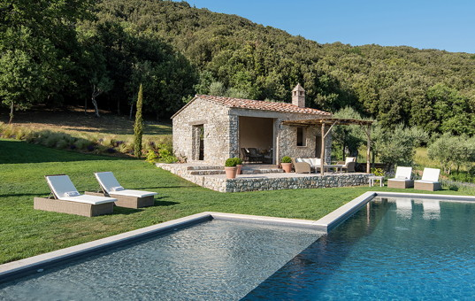 Italien - UMBRIA - San Savino di Murlo - Villa Penna - poolhouse of exclusive rental villa in Umbria