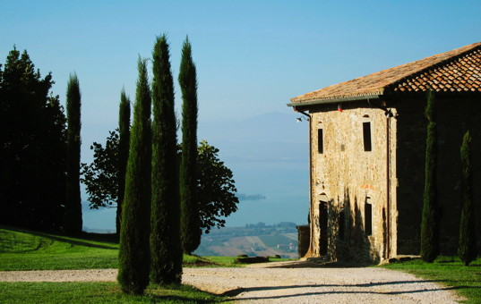 Italien - UMBRIA - Gosparini - Casa Bramasole - fantastic views of Lake Trasimeno
