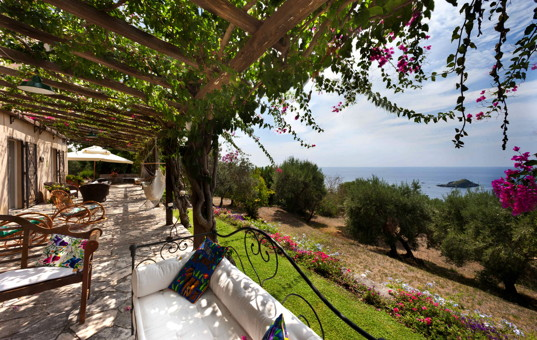 Italien - BASILICATA - Maratea - Villa Marcella - Beuatiful garden with sea view