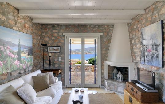 Griechenland - CYCLADES - PAROS - Akrotiri - Spiti Krotiri - cosy interior design