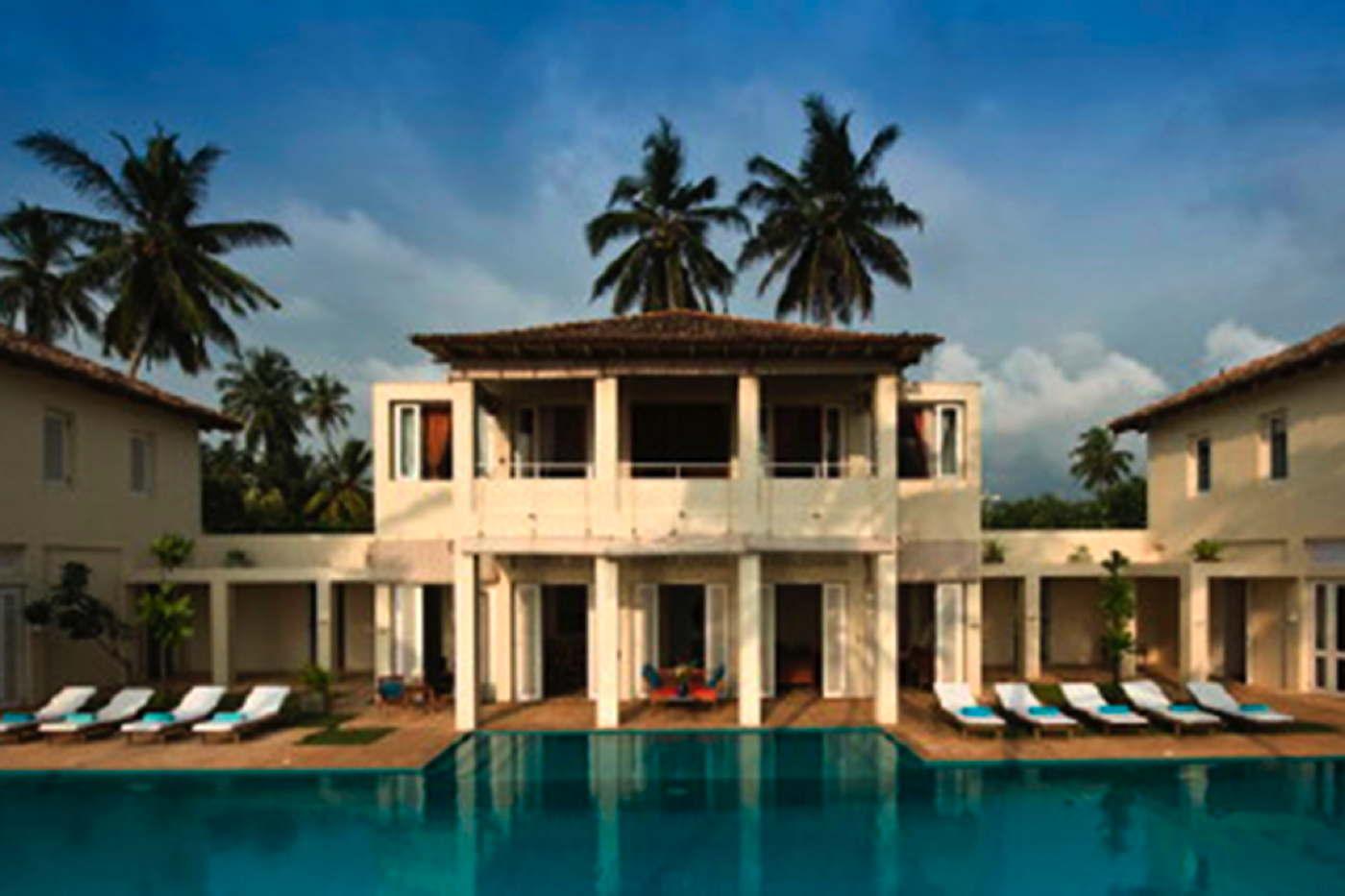 ferienvilla am strand mieten villa mit pool und service sri lanka induruwa. Black Bedroom Furniture Sets. Home Design Ideas