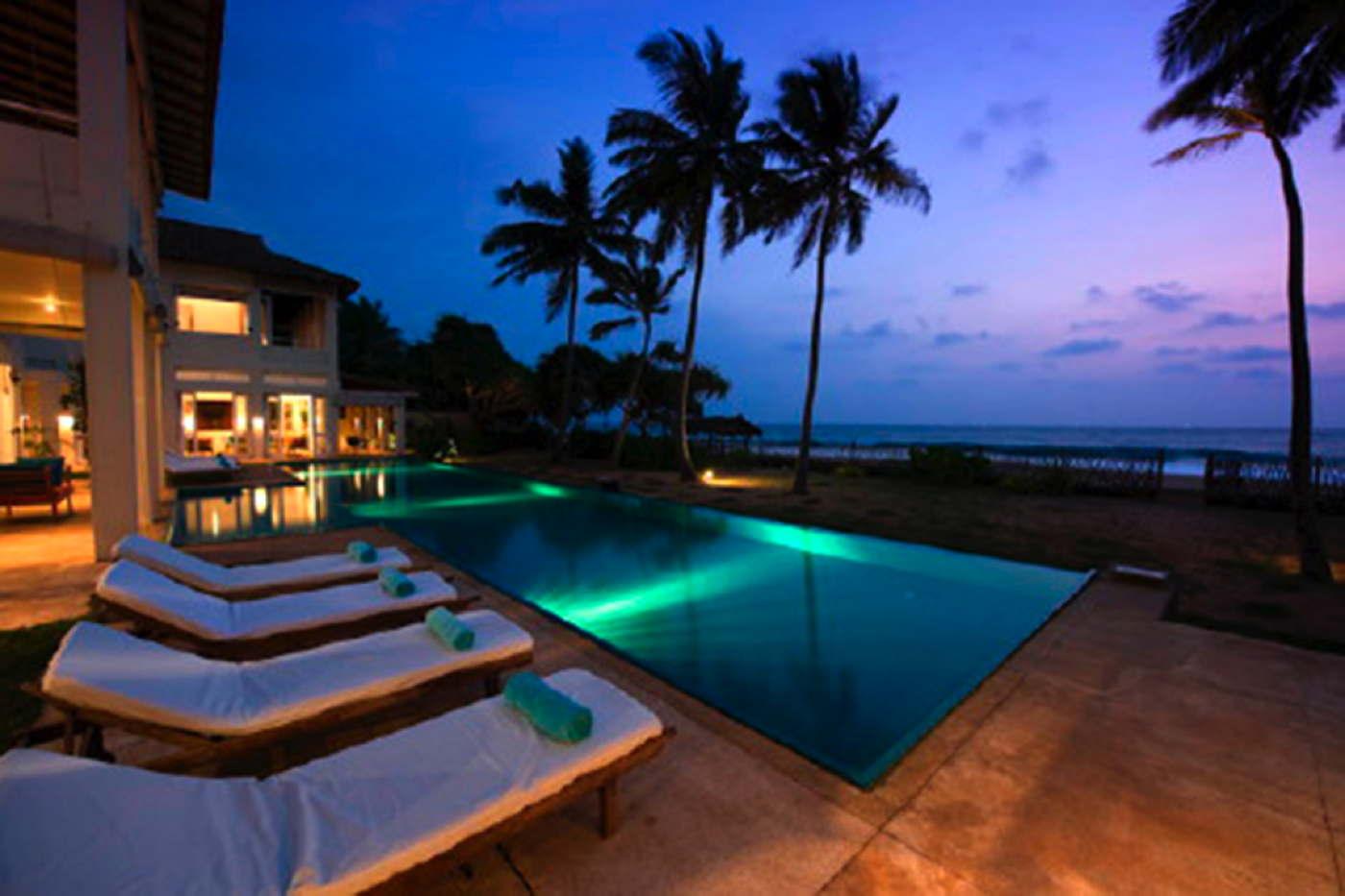 Ferienhaus am Strand mieten Ferienvilla am Meer mit Pool