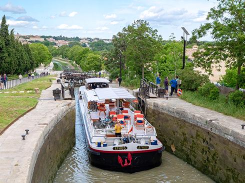 Lock at Canal du Midi
