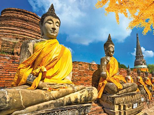 Buddha Statuen in Ayutthaya Thailand
