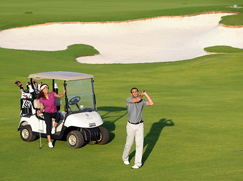 Golfing in Oman