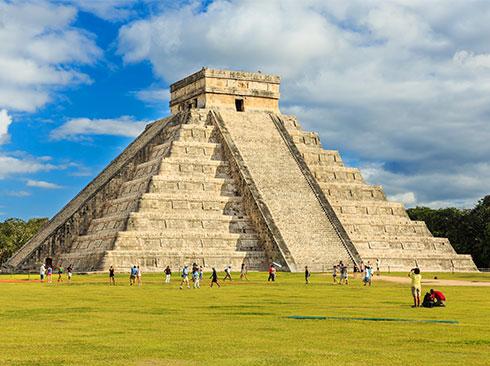 View of Chichen Itza Yucatan Mexico
