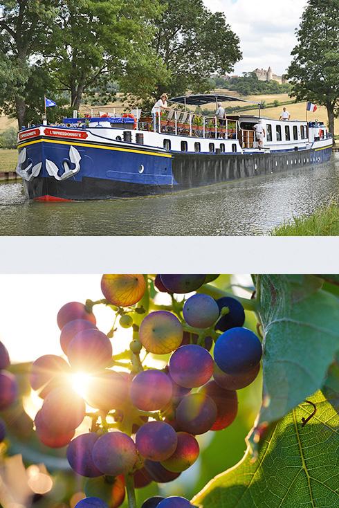 Wein-Kreuzfahrt entlang des Canal de Bourgogne
