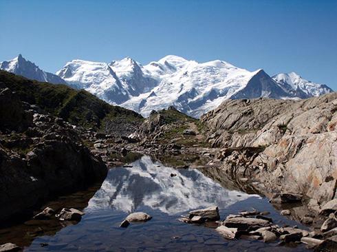 grandiose Berge der französichen Alpen