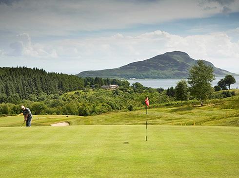 Golfspieler in Schottland