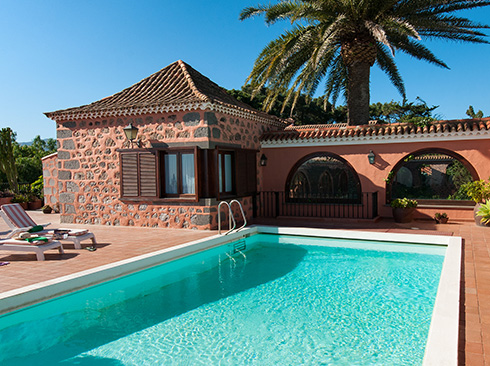 Gran Kanarya adası tatil villası havuzu