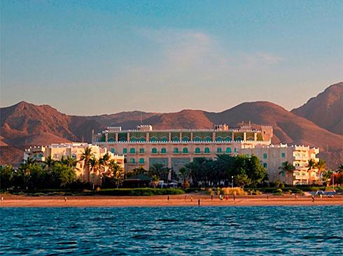 Hotel Oman vor herrlicher Kulisse